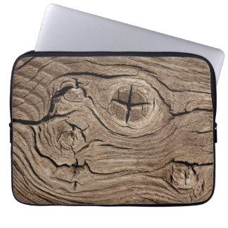 Wood background computer sleeve