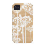Wood background flowers girly floral pattern iPhone 4 case