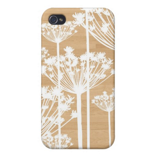 Wood background flowers girly floral pattern chic iPhone 4/4S cases