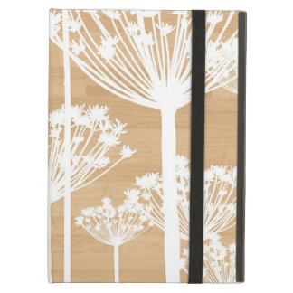 Wood background flowers girly floral pattern iPad air cases