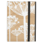 Wood background flowers girly floral pattern iPad air case