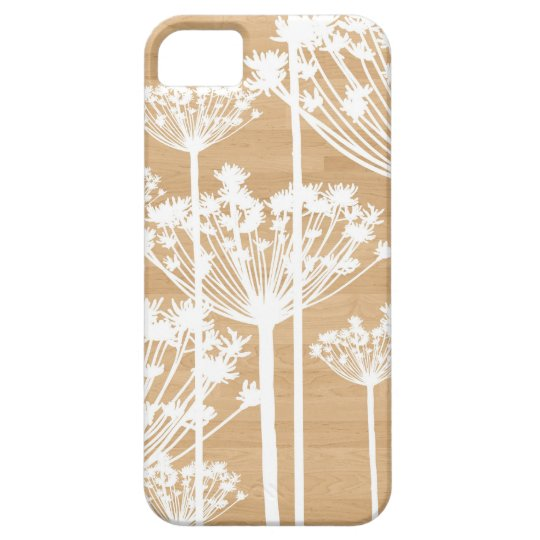 Wood background flowers girly floral pattern iPhone SE/5/5s case