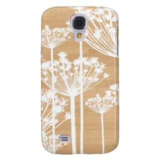 Wood background flowers girly floral pattern samsung s4 case