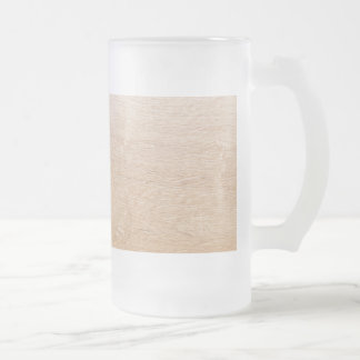 Wood background frosted glass beer mug