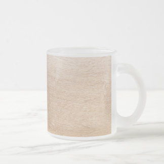 Wood background frosted glass coffee mug