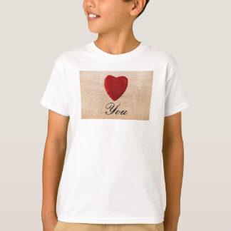 Wood background Love you T-Shirt