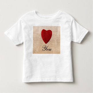 Wood background Love you Toddler T-shirt