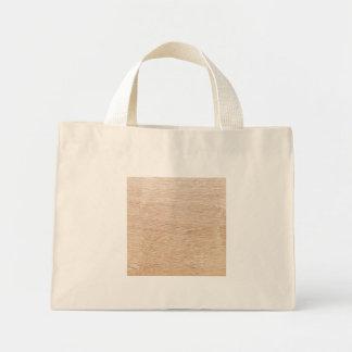 Wood background mini tote bag