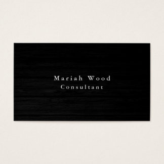 Wood Background Professional Grey White Modern Business Card