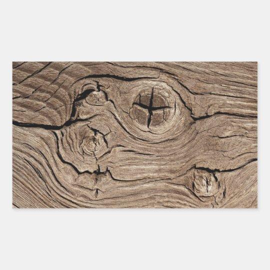 Wood background rectangular sticker