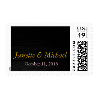Wood Background Wedding Postage