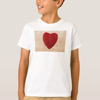 Wood background with heart T-Shirt
