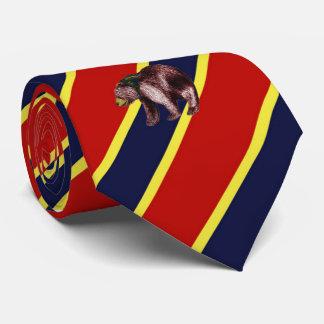 Wood Badge Bear Striped Dress Tie