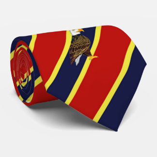 Wood Badge Eagle Striped Dress Tie