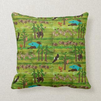 Wood Badge Scenery Pillow