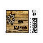 Wood Bar Mitzvah Star Stamp