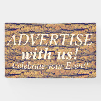 WOOD BARK seamless pattern + your ideas Banner