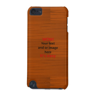 Wood Base Layer Add Your own Text iPod Touch 5G Cover