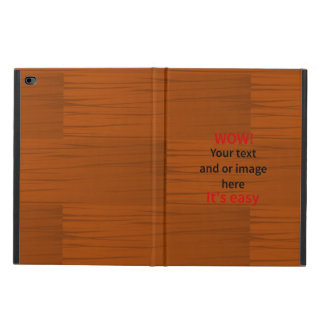 Wood Base Layer Add Your own Text Powis iPad Air 2 Case