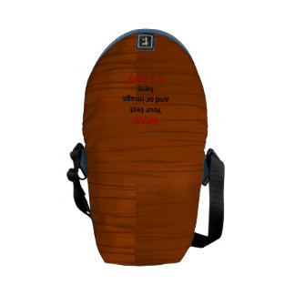 Wood Base Lyer Add Your own Text Messenger Bag
