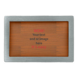 Wood Base Lyer Add Your own Text Rectangular Belt Buckle