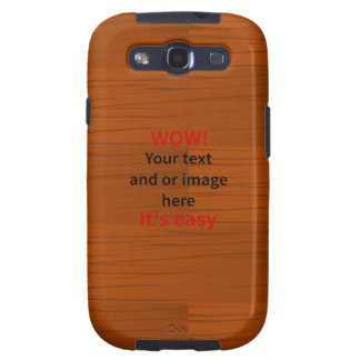 Wood Base Lyer Add Your own Text Samsung Galaxy S3 Case