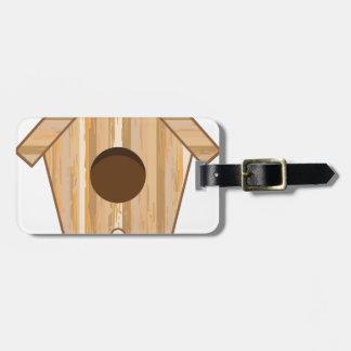 Wood Birdhouse Luggage Tag