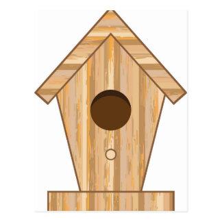 Wood Birdhouse Postcard