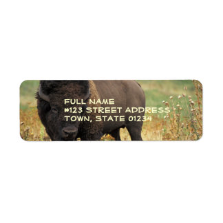 Wood Bison Return Address Label