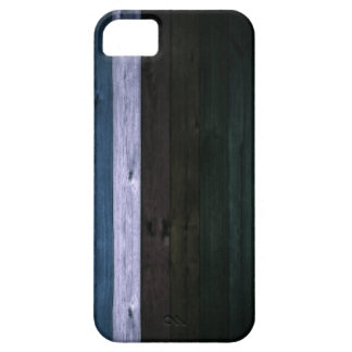 Wood Blue/White Stripe iPhone SE/5/5s Case