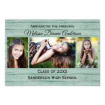 Wood Boards Background - 3x5  Graduation Party Card