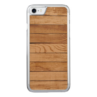 Wood boards texture carved iPhone 7 case