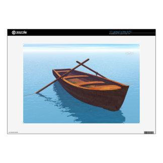 "Wood boat - 3D render 15"" Laptop Skin"
