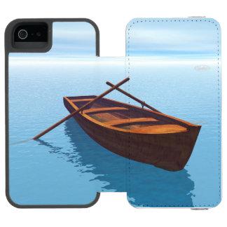 Wood boat - 3D render iPhone SE/5/5s Wallet Case