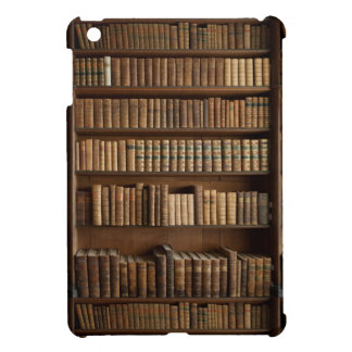 Wood Bookshelf with Books Cover For The iPad Mini