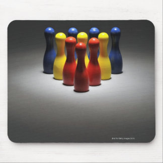 Wood Bowling Pins Mouse Pad