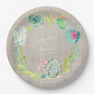 Country And Western Bridal Shower Plates Zazzle