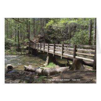 Wood bridge in Cades Cove Card