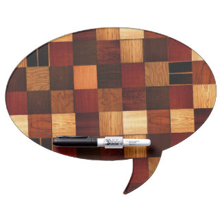 Wood Brock Pattern Dry Erase Board