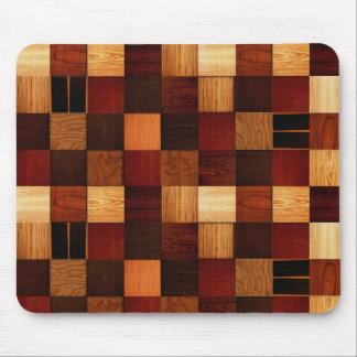 Wood Brock Pattern Mouse Pad