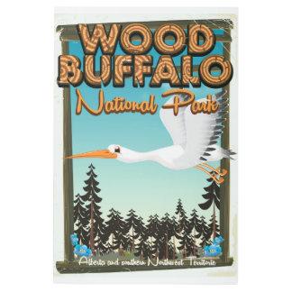 Wood Buffalo National Park travel poster