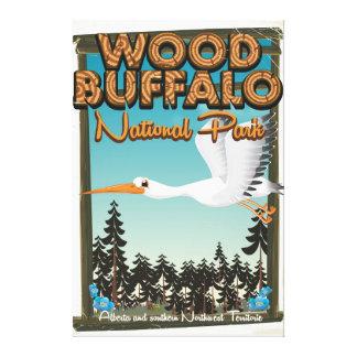 Wood Buffalo National Park travel poster Canvas Print