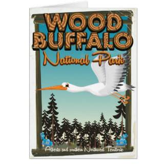 Wood Buffalo National Park travel poster Card