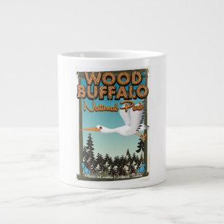 Wood Buffalo National Park travel poster Large Coffee Mug