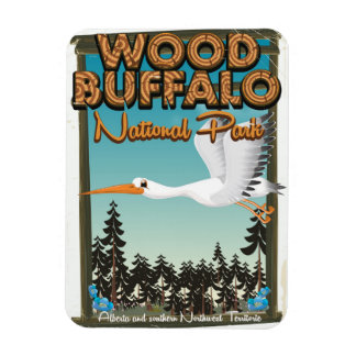 Wood Buffalo National Park travel poster Magnet