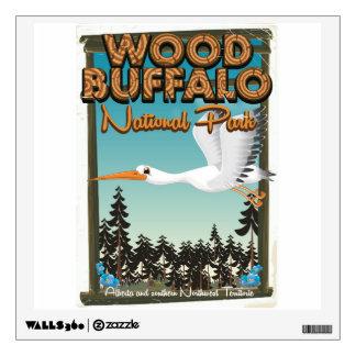 Wood Buffalo National Park travel poster Wall Decal