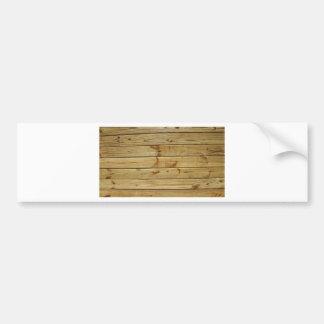 wood bumper stickers