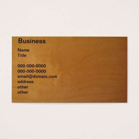 Wood - burl business card