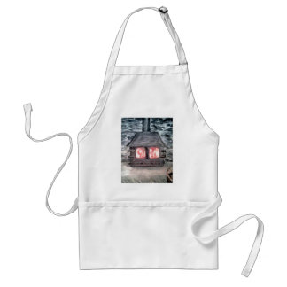 wood burner design by Sonya Moikeenah Adult Apron