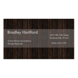 Wood Double-Sided Standard Business Cards (Pack Of 100)